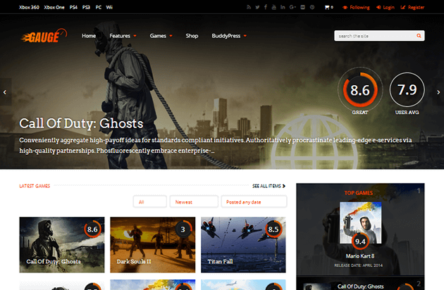 Gauge WordPress Theme