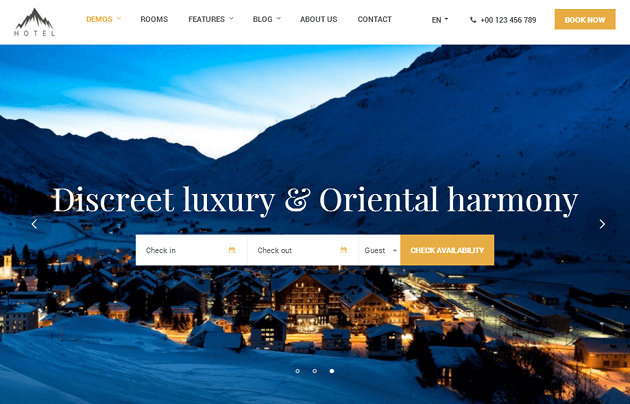 Hotel WP WordPress Theme