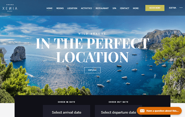 HOTEL XENIA WordPress Theme