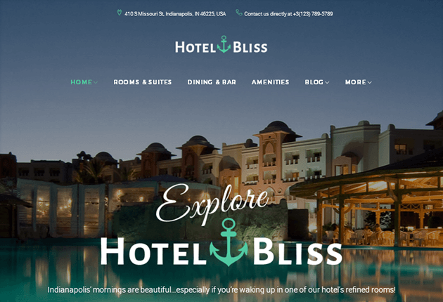 HotelBliss WordPress Theme