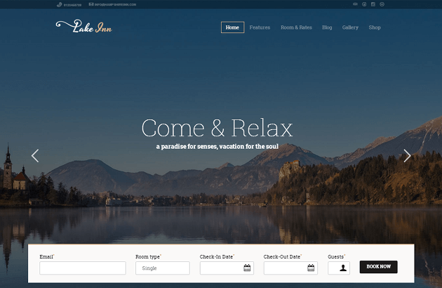 LakeInn WordPress Theme
