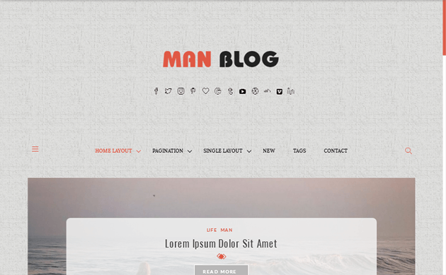 Man Blog WordPress Theme