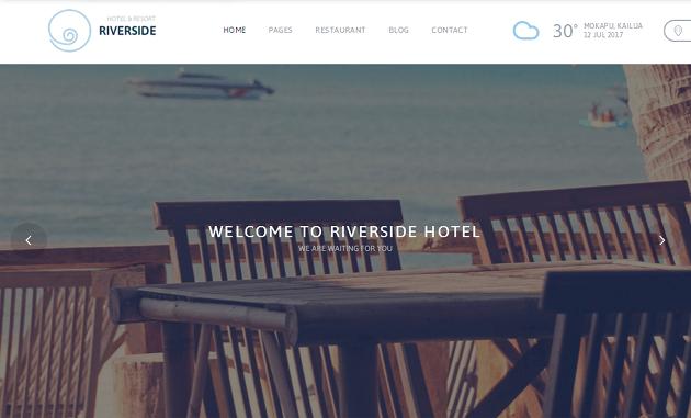 Riverside Resort WordPress Theme
