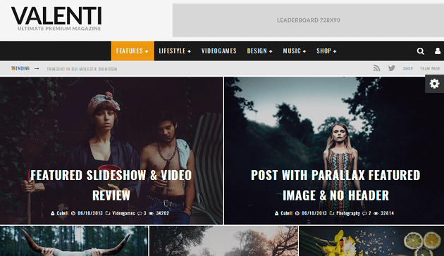 Valenti WordPress Theme