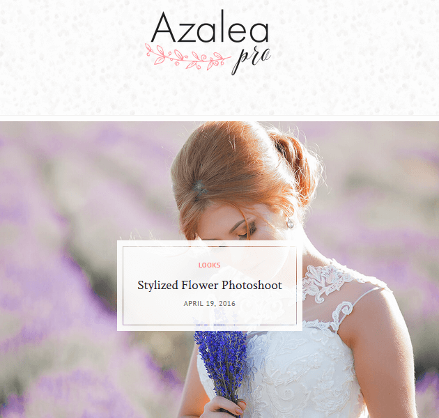 Feminine WordPress Themes - Azalea Pro