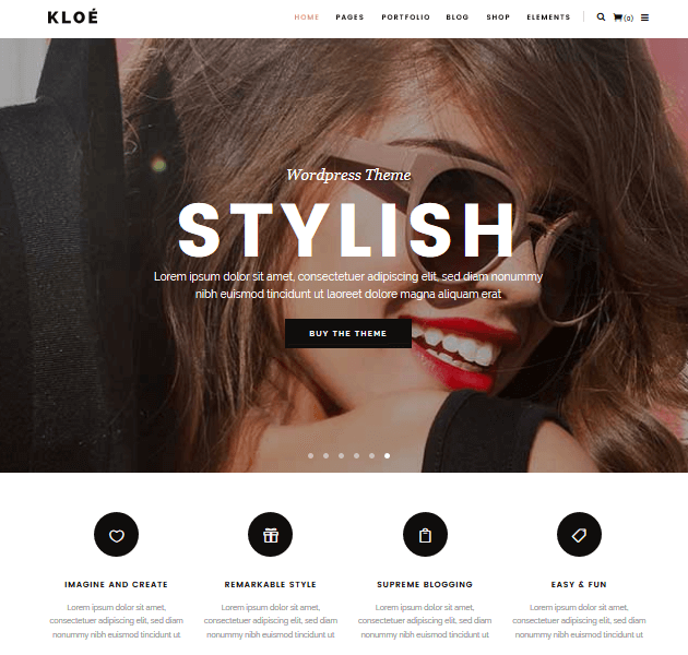 Feminine WordPress Themes - Kloe