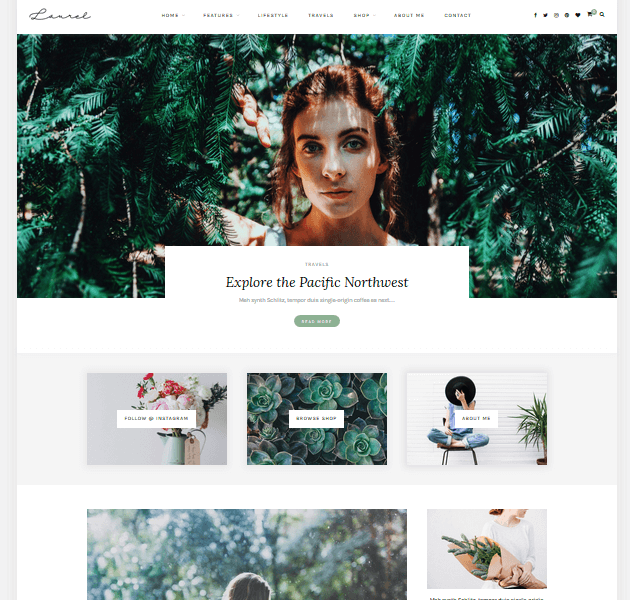 Feminine WordPress Themes - Laurel