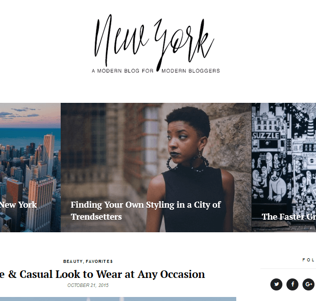 Feminine WordPress Themes - New York