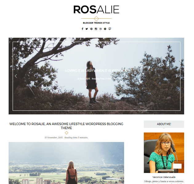 Feminine WordPress Themes - Rosalie