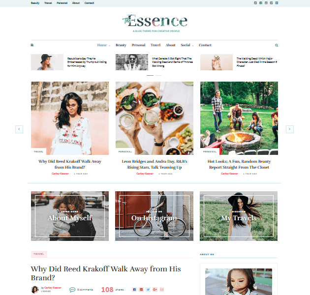 Feminine WordPress Themes - The Essence