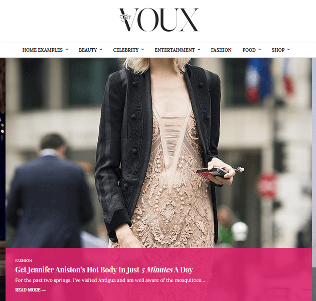 Feminine WordPress Themes - The Voux