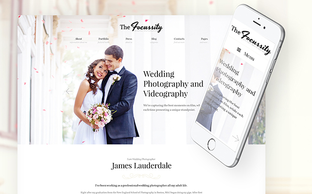 Focussity - Wedding Photography WordPress Theme