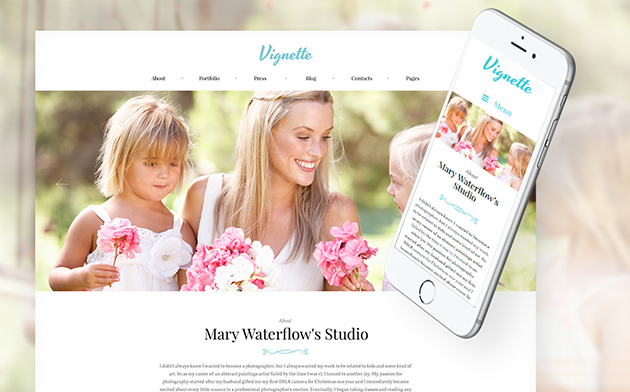 Vignette - Family Photographer & Portfolio WordPress Theme