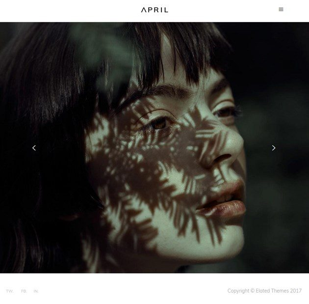 april photography wordpress theme
