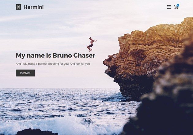 harmini wordpress photography theme