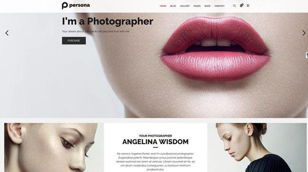 persona photography wordpress theme