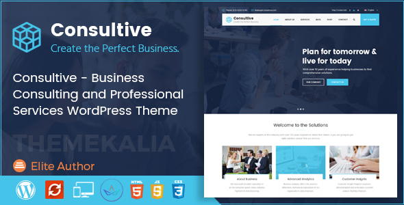 Consultive - Business Consulting and Professional Services WordPress Theme
