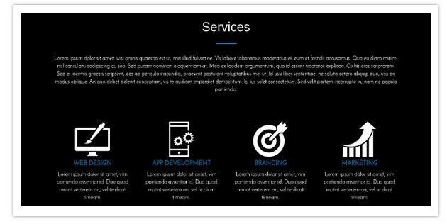 Services sSection - One Page Business Pro