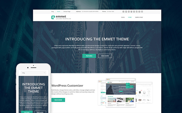 Emmet WordPress Theme
