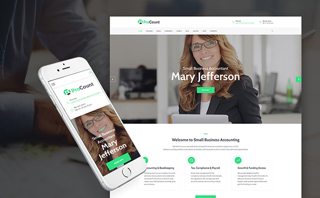 Accounting WordPress Theme