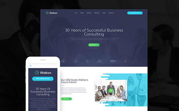 Walton - Business Consulting WordPress Theme