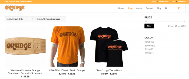 The Orange website.