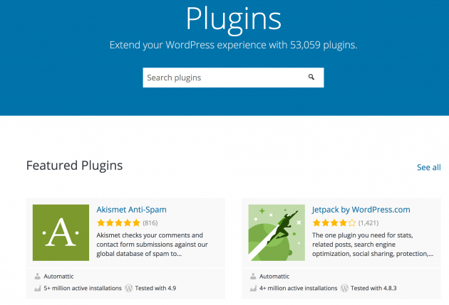 The WordPress.org Plugin Directory.