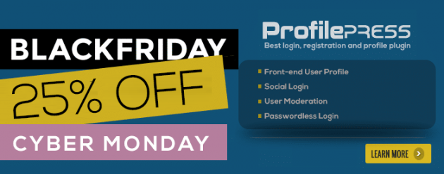 Wordpress black friday cyber monday deals 2017 wp mayor profilepress fandeluxe Choice Image