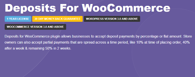 deposits for woocommerce review