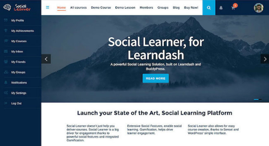 social-learner-buddypress-learndash-themes