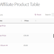 How to Add a WooCommerce Table of Affiliate Products to Blog Posts