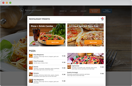 wordpress restaurant menu plugin by gloriafood