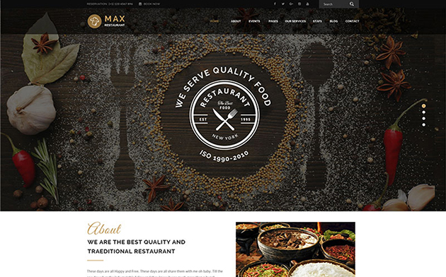 Restaurant - Responsive WordPress Theme WordPress Theme