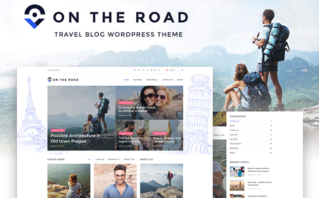 On The Road - Travel Blog WordPress Theme