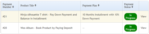 SUMO WooCommerce Deposits Payment Plans Plugin - My Payments