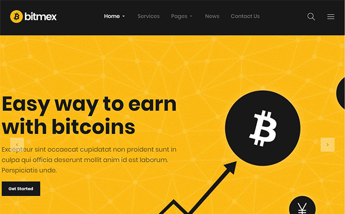 Bitmex - Cryptocurrency & Bitcoin WordPress Theme