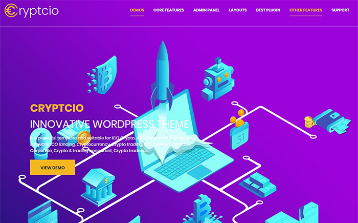 Cryptcio - Innovative WordPress Theme
