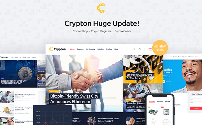 Crypton | Multi-Purpose Cryptocurrency WordPress Theme