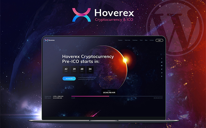 Hoverex | Cryptocurrency & ICO WordPress Theme