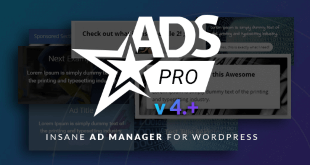 The Ads Pro plugin.
