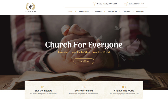 Faith & Hope | A Modern Church & Religion WordPress Theme
