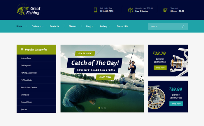 Fishing and Hunting WordPress Theme