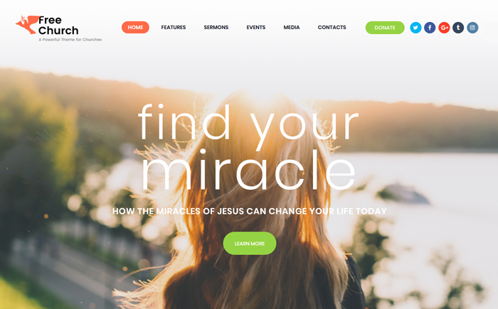 Free Church | Religion & Charity WordPress Theme
