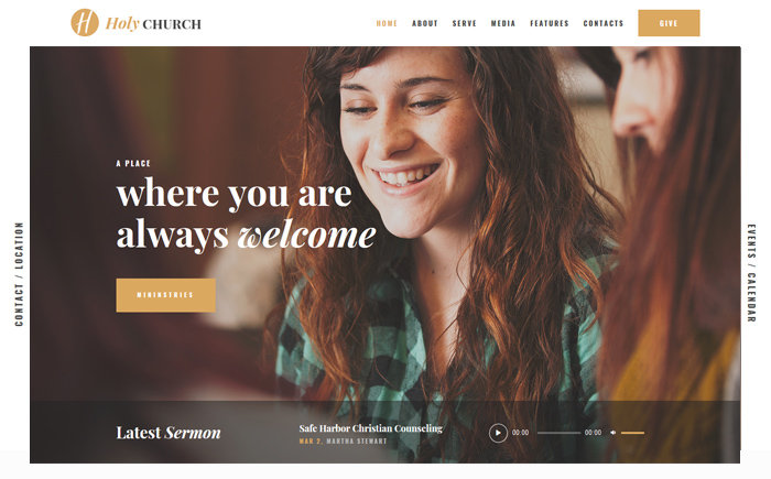 Holy Church | Religion & Nonprofit Theme WordPress Theme