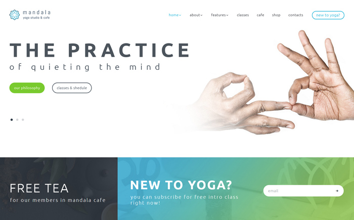 Mandala | Yoga Studio and Wellness Center WordPress Theme