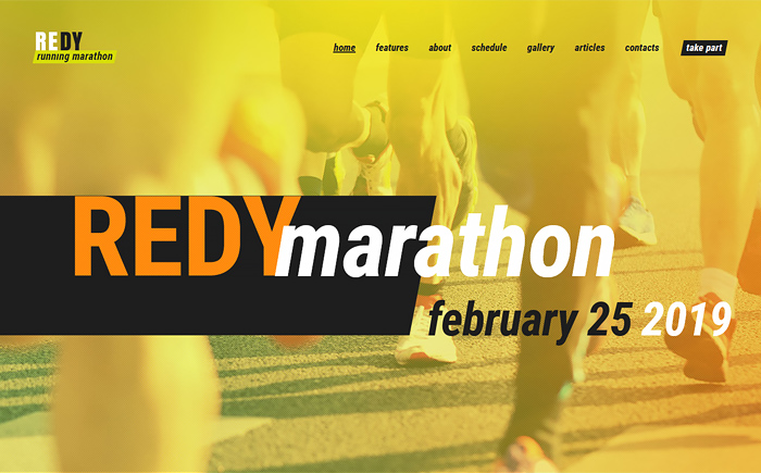 Redy | Marathon & Sports WordPress Theme