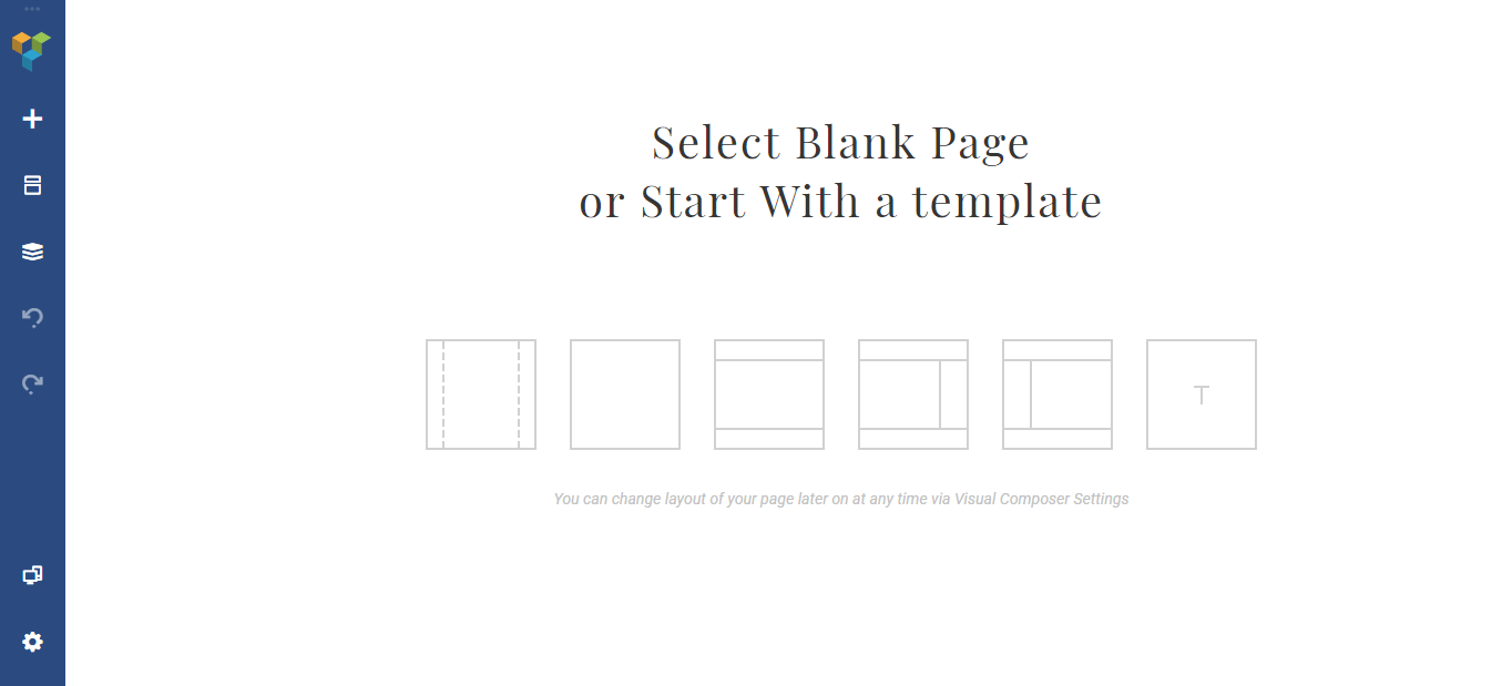 Template options in Visual Composer.