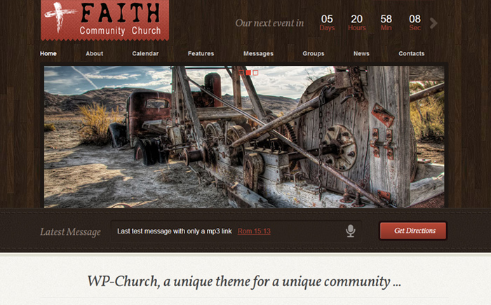 WP-Church - powerful theme for churches