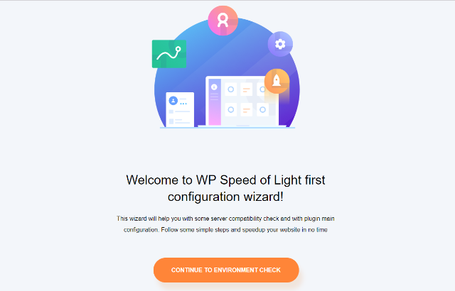 wp speed of light configuration wizard