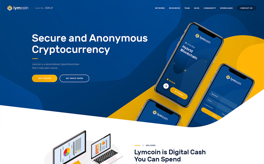 Lymcoin | Cryptocurrency & ICO WordPress Theme